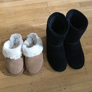Minnetonka Slippers and Bearpaw Elle boots